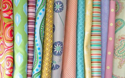 image of lots of free fabric