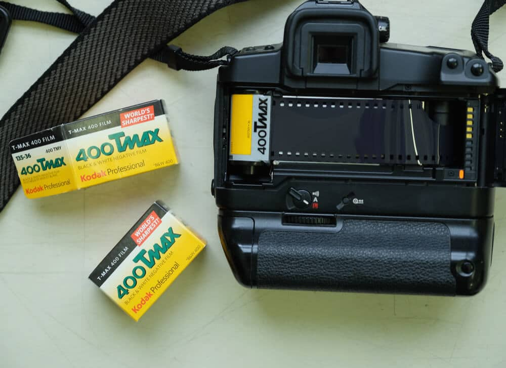 A roll of 35mm film ready to be developed.