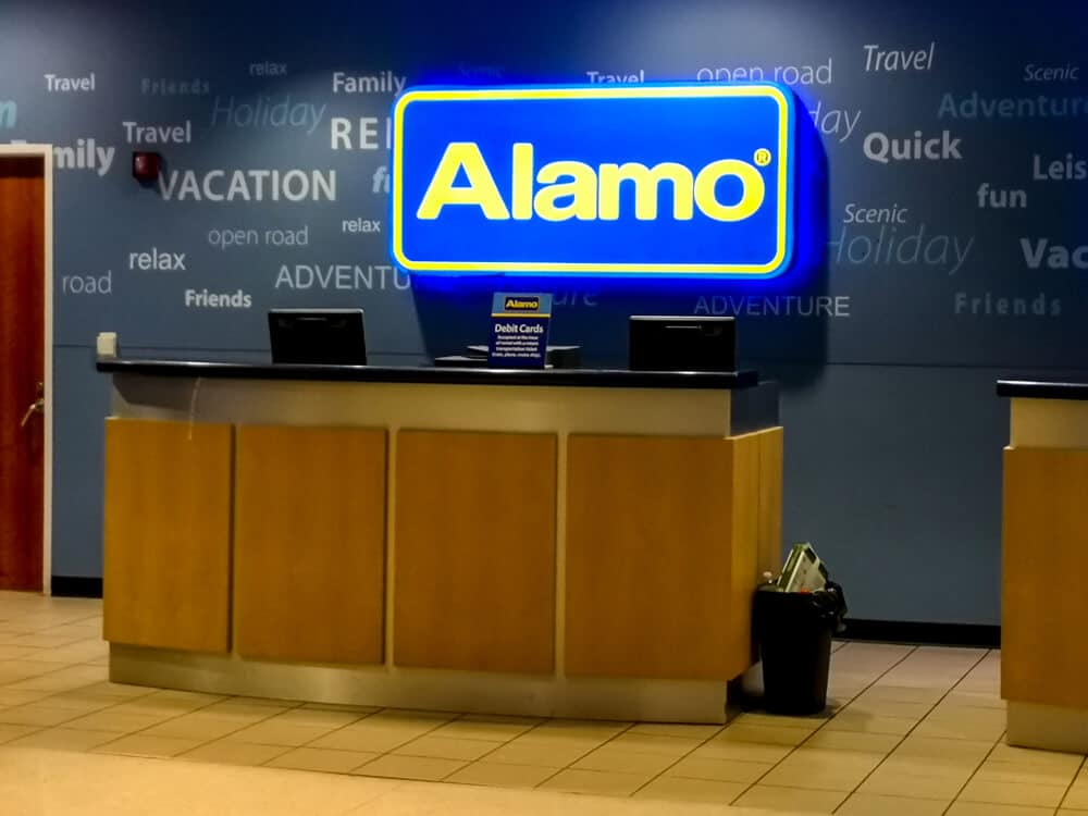 Alamo car rental desk