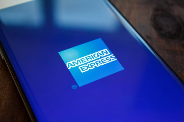 American Express logo on phone