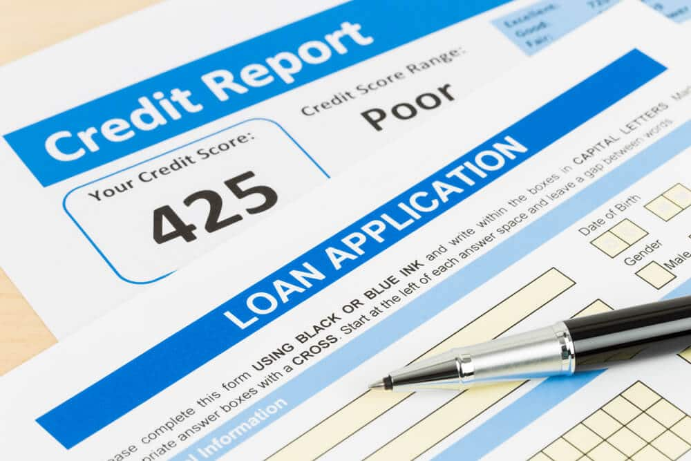 Bad credit personal loan application and poor credit report