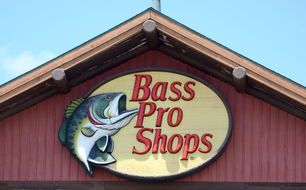 Sign on a Bass Pro Shops storefront