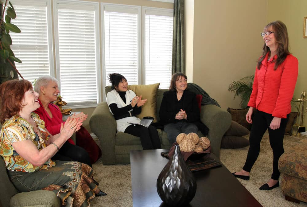 Group of women attending a home party business event