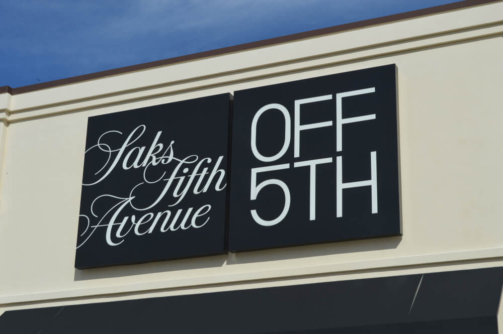 Saks Fifth Avenue OFF 5th sign