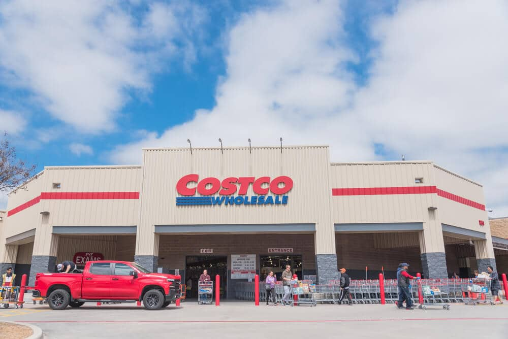 Exterior of a Costco store