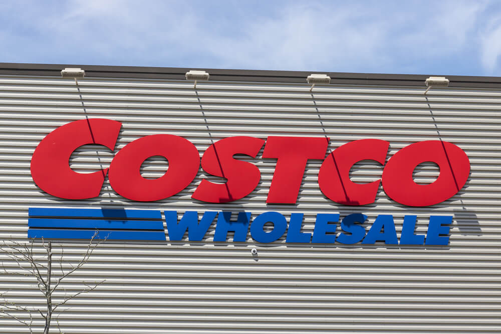 Costco Wholesale sign on a building