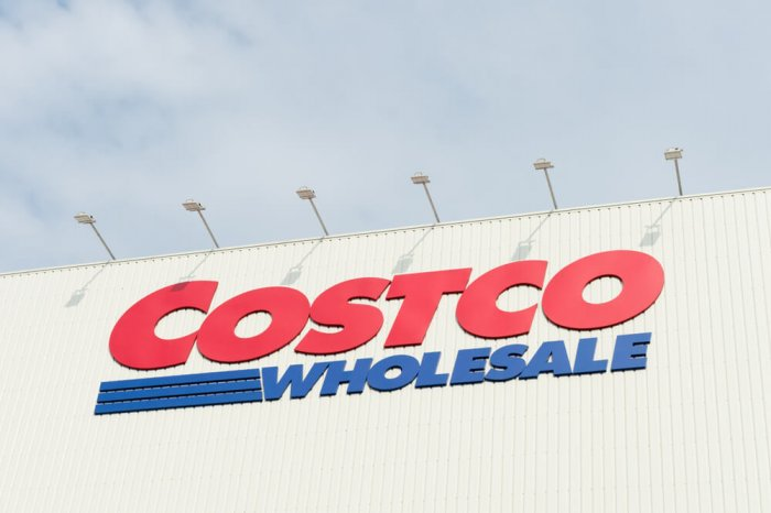 Costco Wholesale sign on the outside of the store
