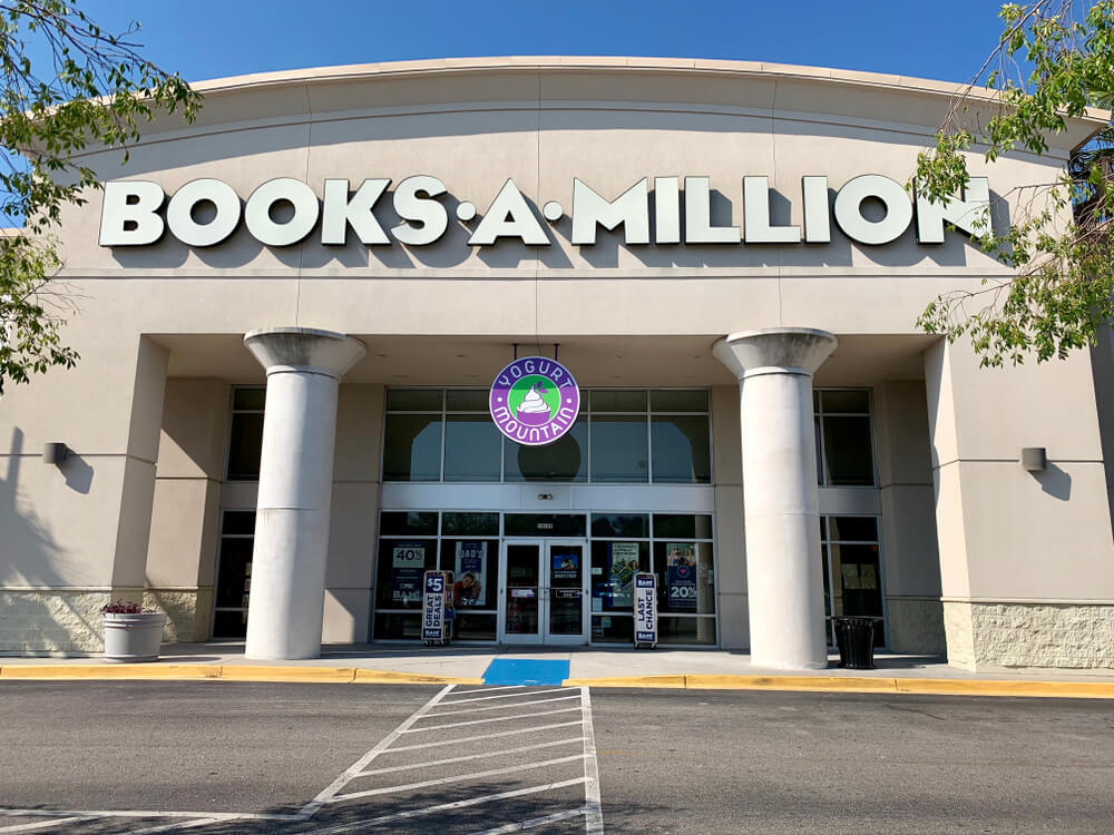 Front entrance of a Books-A-Million store