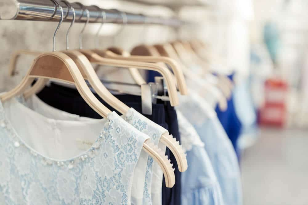 Women's clothing on sales rack