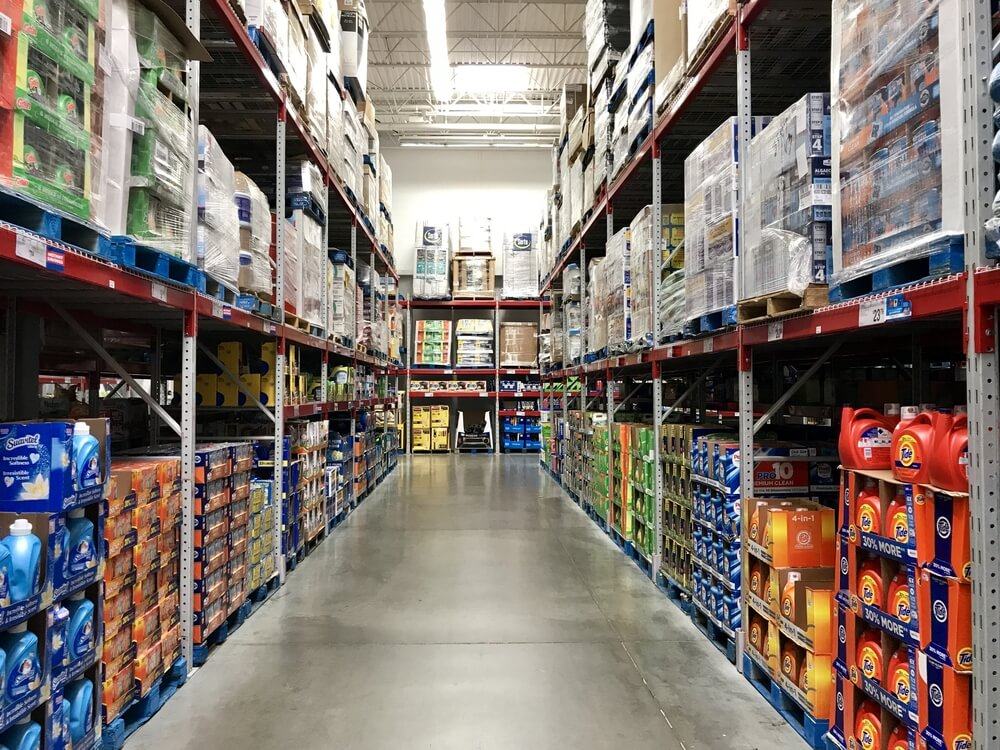 Wholesale club aisle