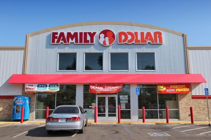 Exterior of a Family Dollar storefront