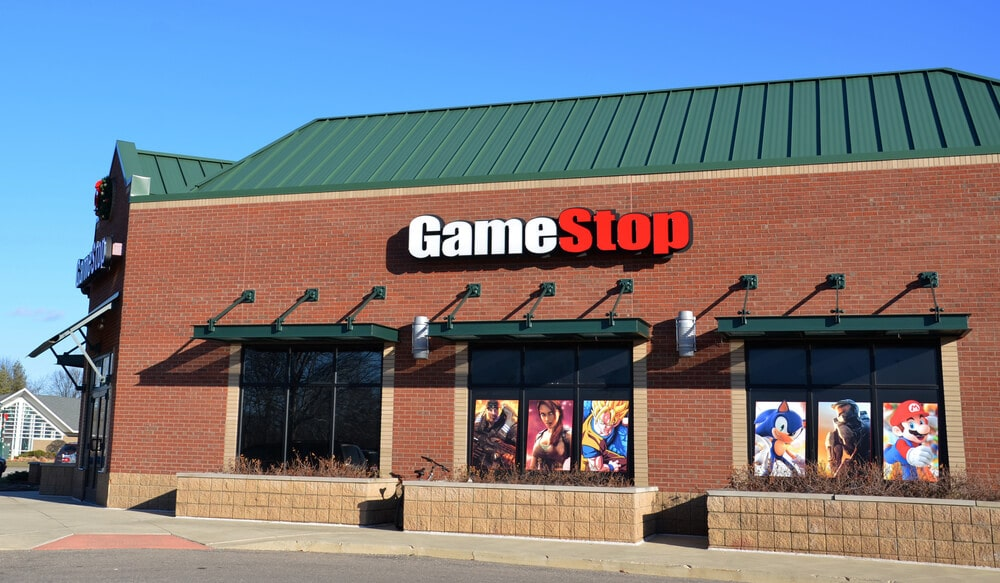 GameStop sign on the outside of the store