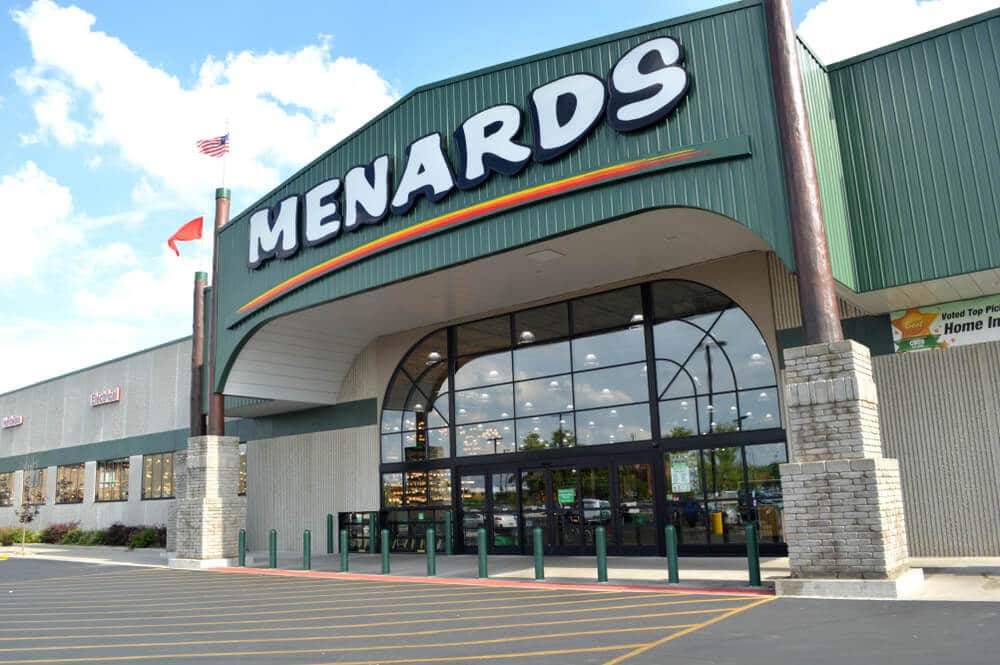 Entrance to a Menards store