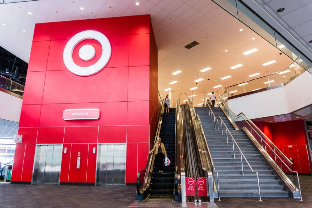 Interior lobby of a Target store