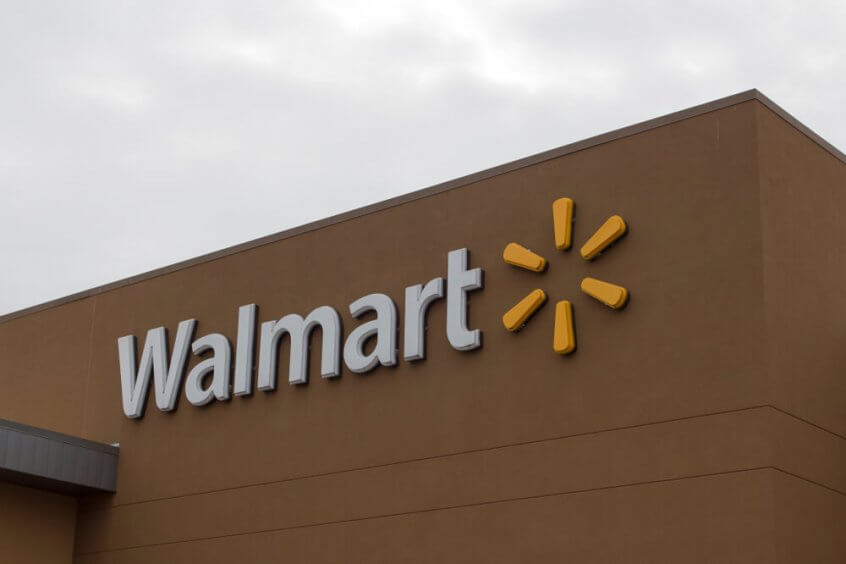 Walmart sign on a building