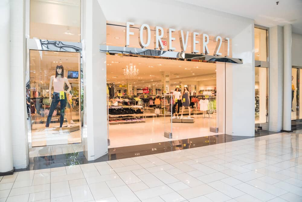 Forever 21 storefront in a mall