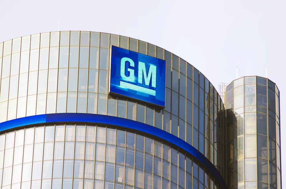The GM Headquarters building in Detroit