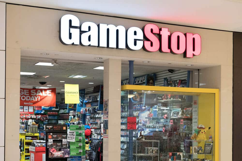 A GameStop location in a mall