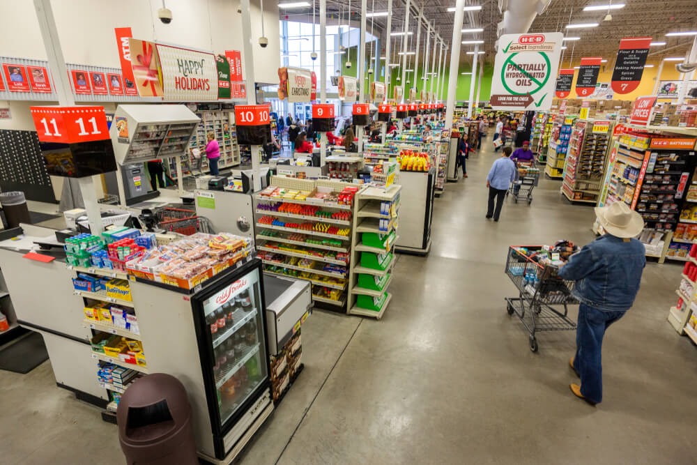 Interior of an H-E-B grocery store