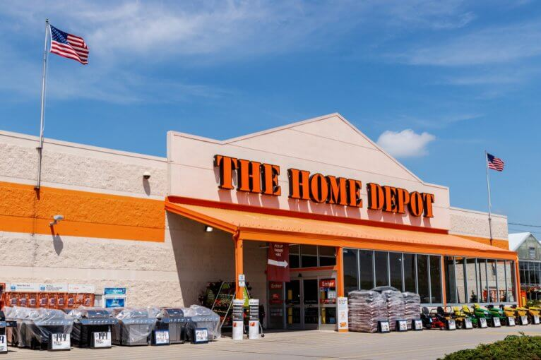 Exterior of a The Home Depot store