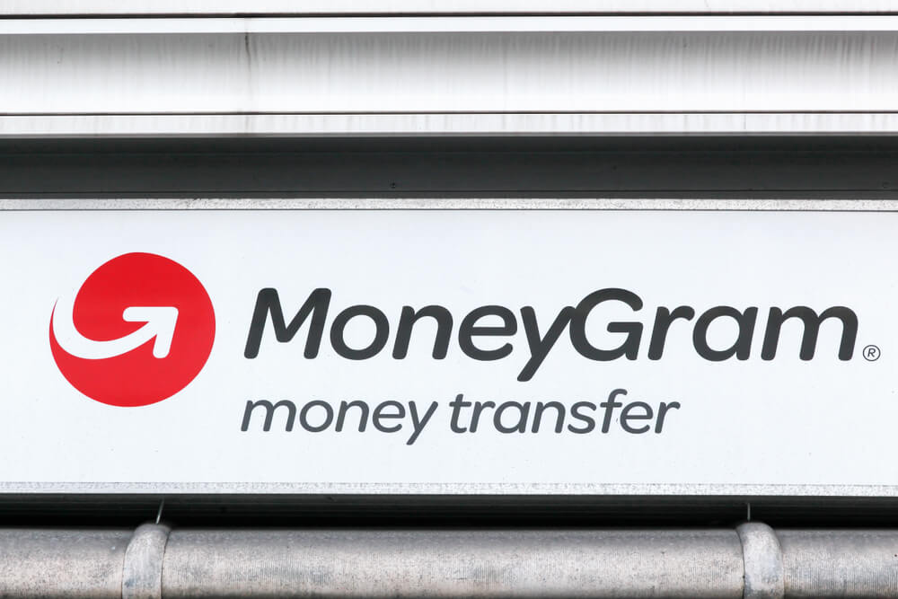 Sign outside of a MoneyGram location
