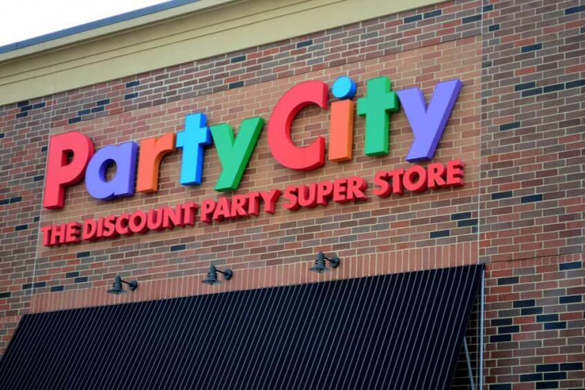 Exterior of a Party City store.
