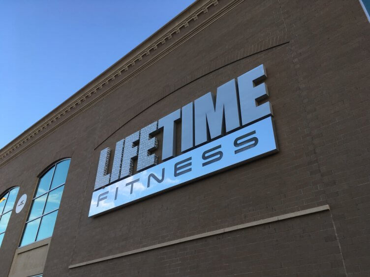 A Life Time Fitness sign