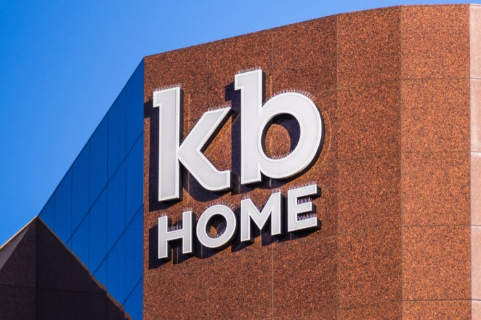 KB Home logo on the outside of the headquarters