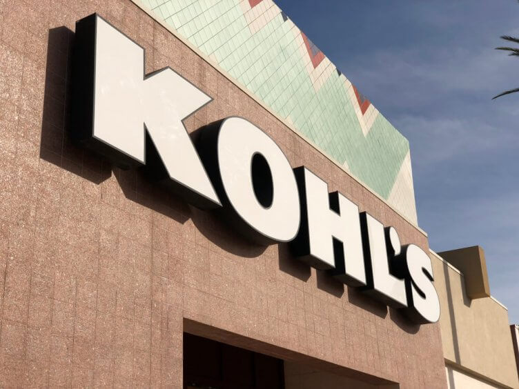 Kohl's sign on a building