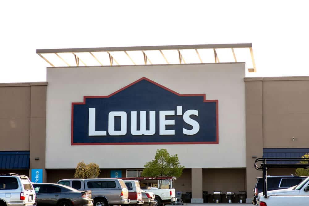 Exterior of a Lowe's store