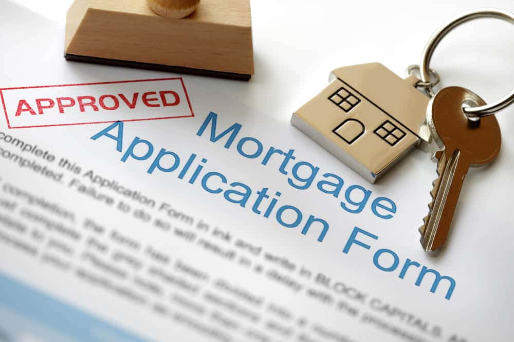 A manually underwritten loan application form.