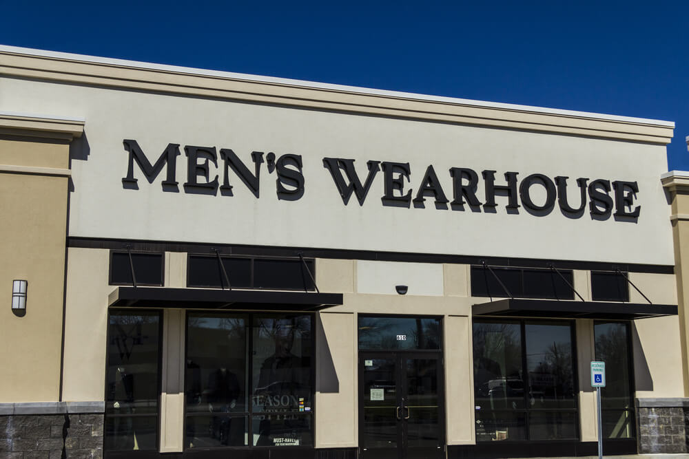 Exterior of a Men's Wearhouse store