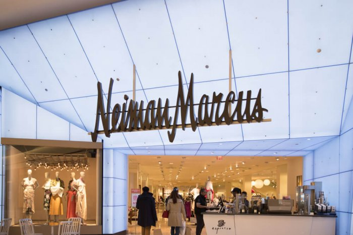 Neiman Marcus storefront in a mall
