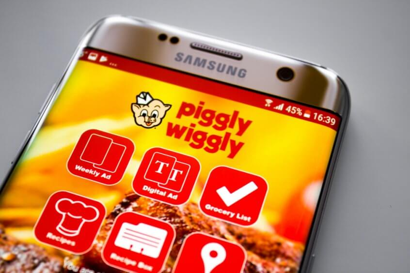 Piggly Wiggly app on phone