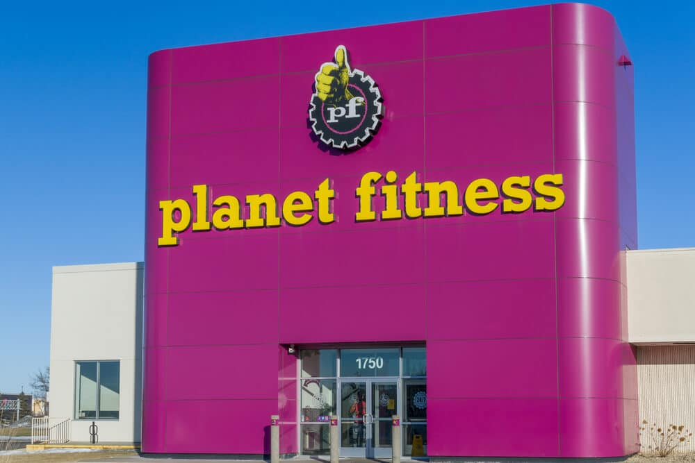 Exterior of a Planet Fitness gym
