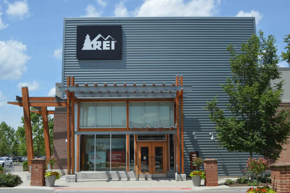 Exterior of an REI store