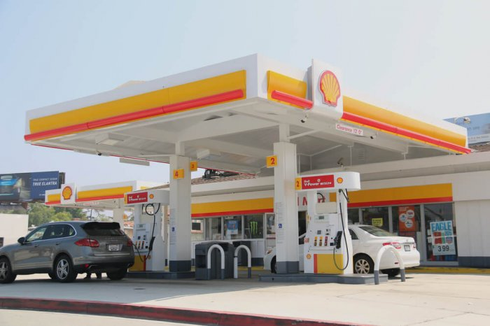 Shell gas station and convenience store