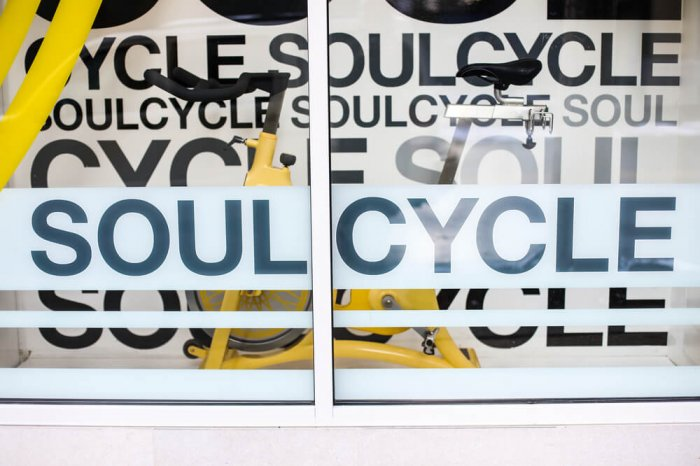 SoulCycle window display
