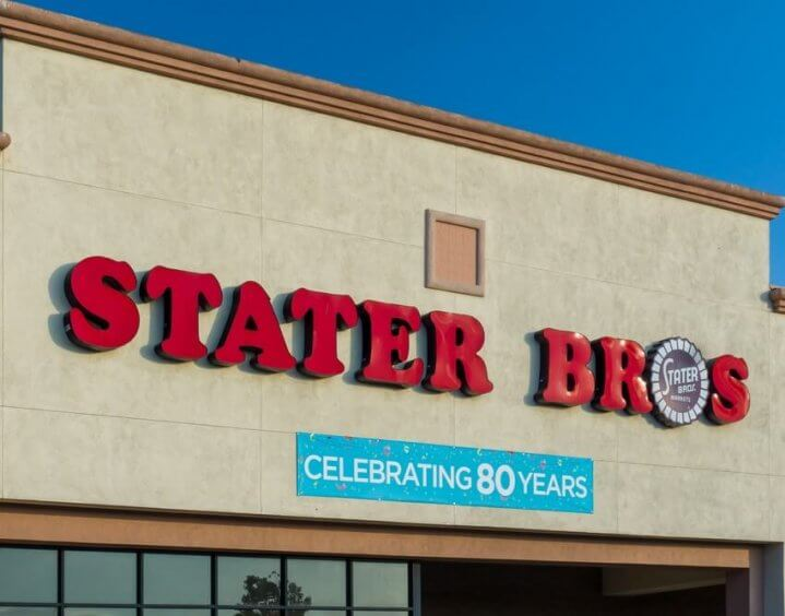 Stater Bros. sign on a building
