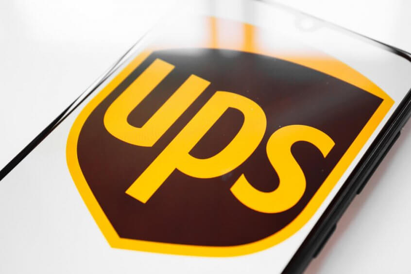 UPS logo on a phone