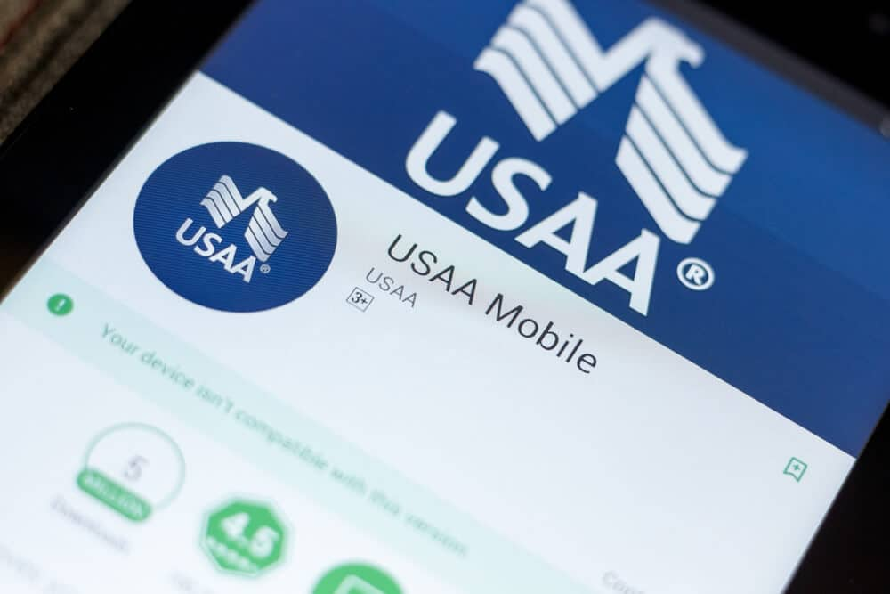 USAA Mobile app on a phone