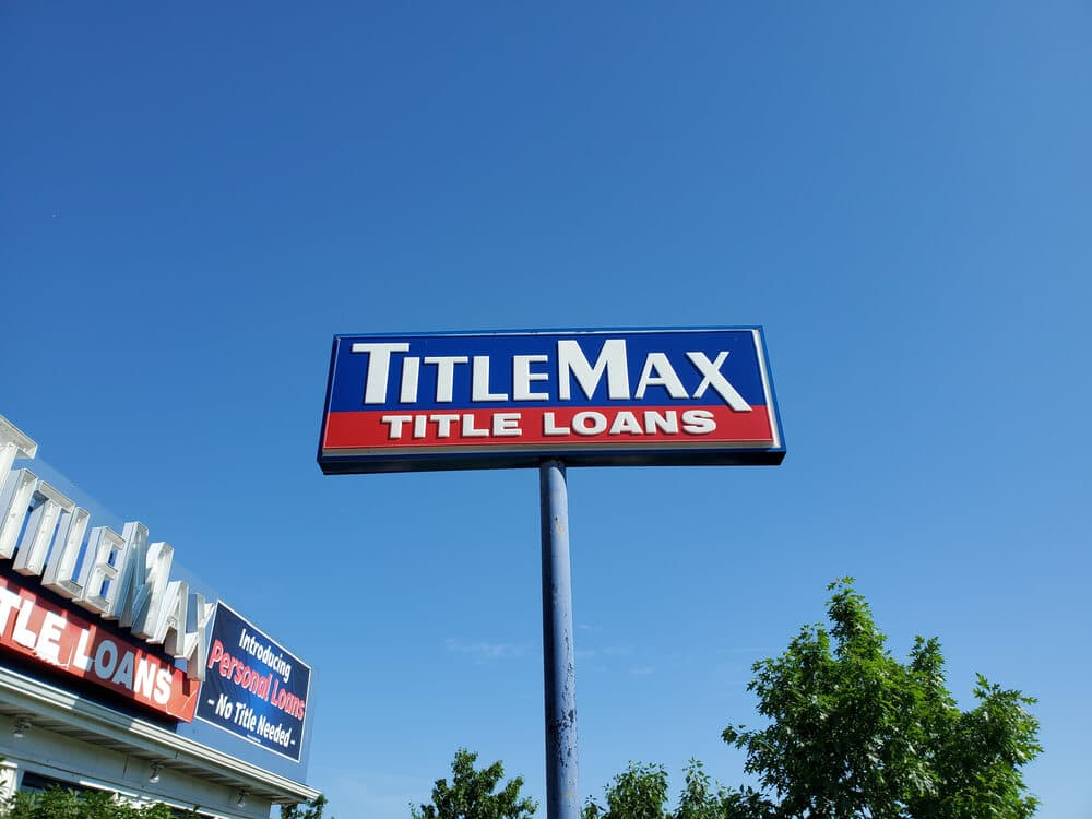 TitleMax sign outside of one of the title lender's locations