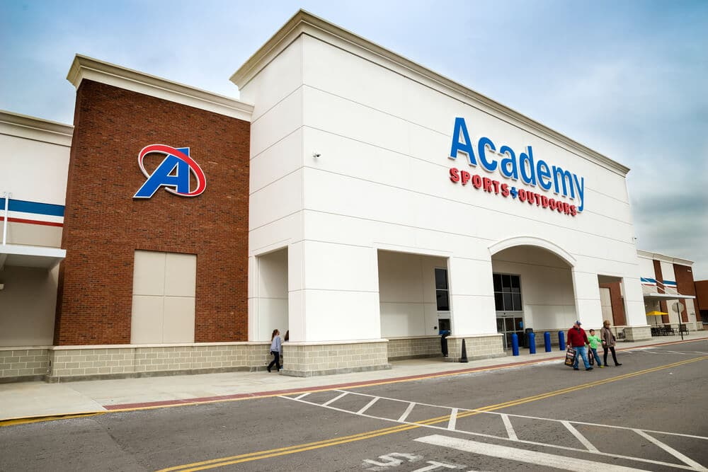 Exterior of an Academy Sports + Outdoors store