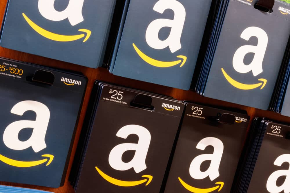 Amazon gift cards for sale at a store