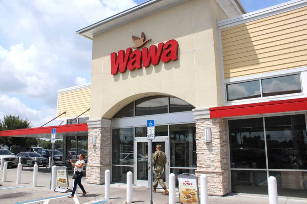 Front entrance of a Wawa location