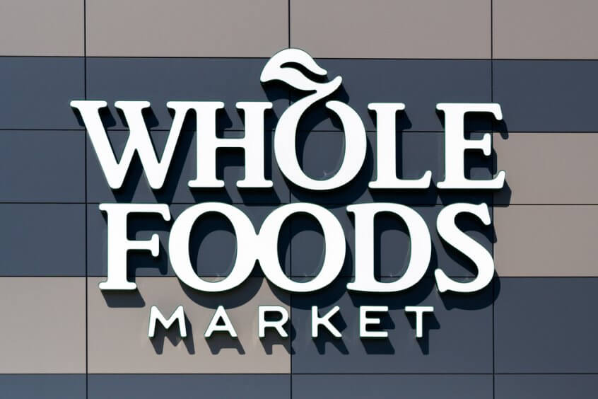 Whole Foods Market logo and sign