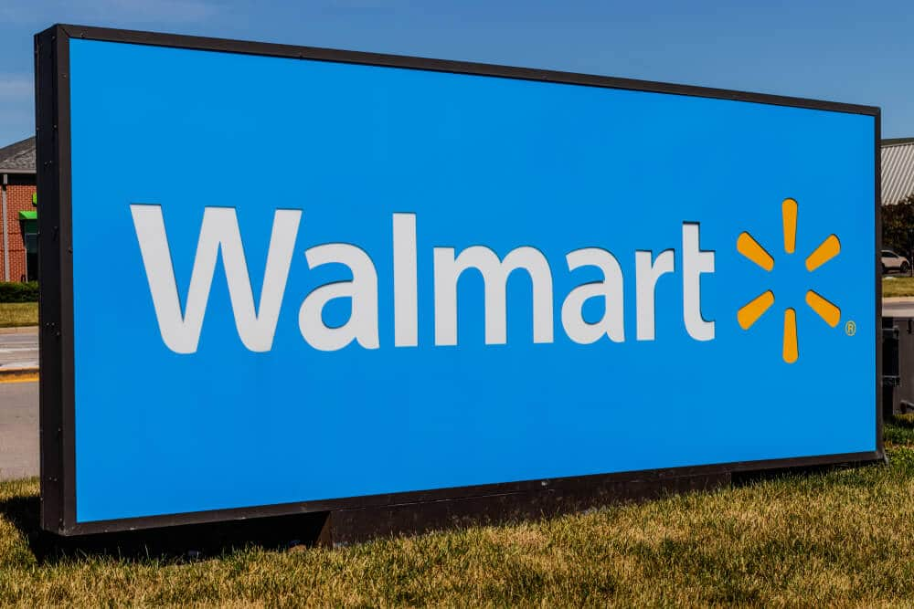 Walmart sign outside of a store
