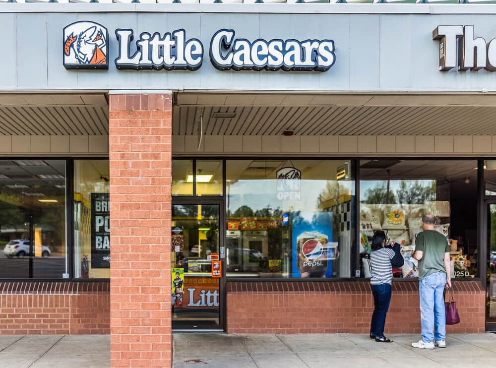 Little Caesars storefront in a strip mall