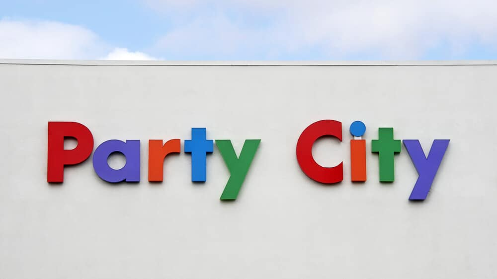 Party City sign on the side of a building