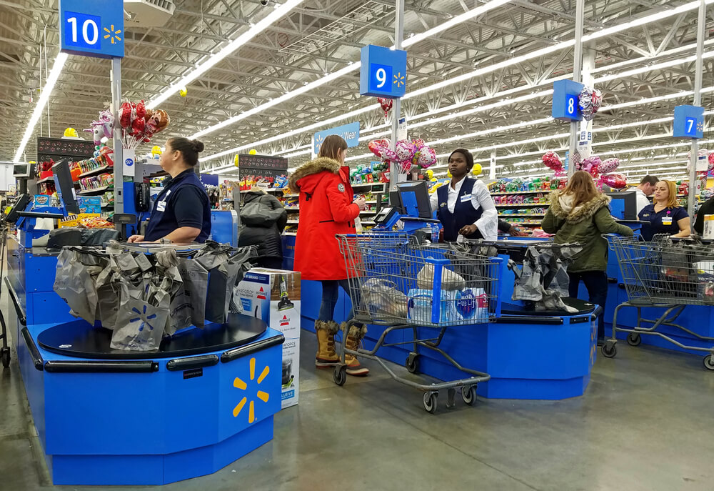 the checkout lines at walmart